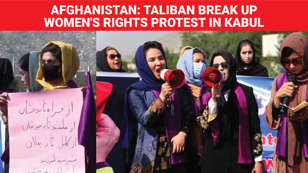 Afghanistan: Taliban break up women's rights protest in Kabul